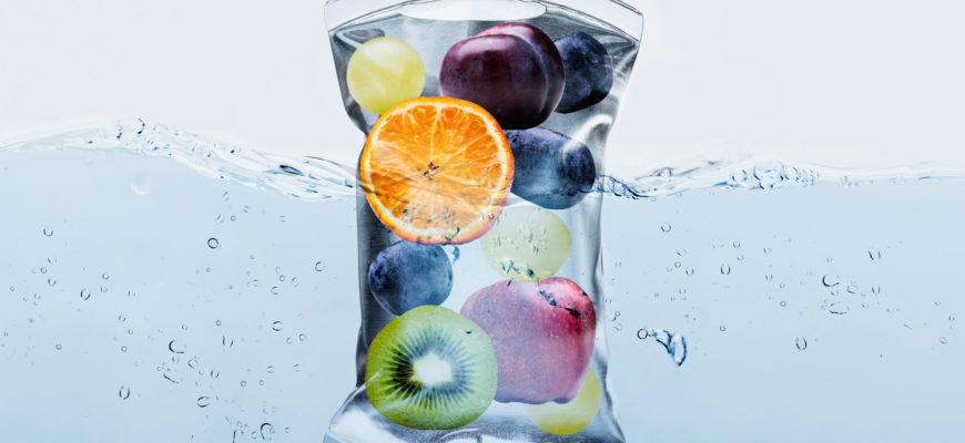 close-up of various fruit slices in IV bag representing IV Therapy
